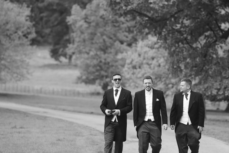 On their way to the church - Wedding Photographer at Dumbleton Hall | Bullit - Cheltenham & Cotswolds