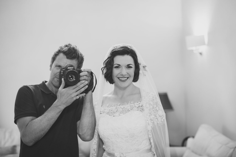 The bride and I - Reportage Wedding at Upcote Barn | Bullit